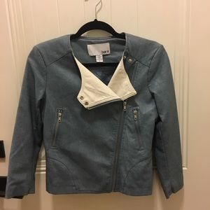 Faux Leather Semi Cropped Jacket (Worn Once!)